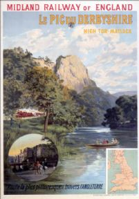 Le Pic du Derbyshire, High Tor, Matlock. Vintage MR Travel Poster by Clement Aunston